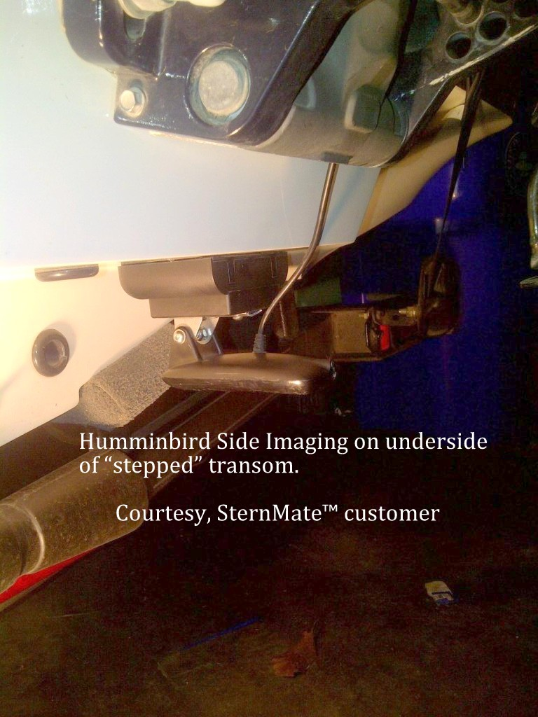 Transom Transducer Photos Mounted On Sternmate
